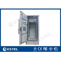 China 42U Air Conditioner Type Outdoor Telecom Cabinet / Double Wall Heat Insulated Communication Enclosure for sale