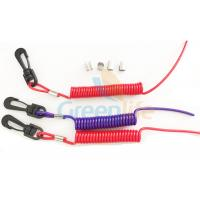 Wholesale Elastic Coil Style Jet Ski Safety Lanyard Tethers Durable Outboard Engine Kill Cords from china suppliers