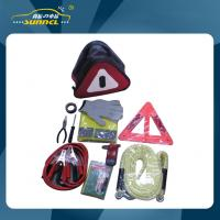 Wholesale Car Safety Emergency Tool Kit Flashlight Safety Triangle Hammer Security bag from china suppliers
