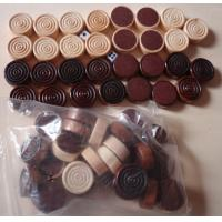 Wholesale wood Backgammon Set Checkers Pieces in Black and Natural from china suppliers