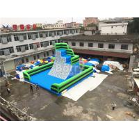 Wholesale Green Outdoor Inflatable Climbing Wall Obstacle Course With Bottom Mat from china suppliers