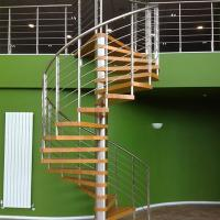 Wholesale Internal Spiral Staircase Design For Timber Stair Steps Stainless Steel Railings / Steel Wood Spiral Stair from china suppliers