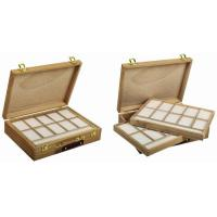 Wholesale Wooden Art Storage Box With Tray , Rectangular Paint Storage Containers 35.5 X 26.5 X 8.6cm from china suppliers