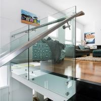 Wholesale 304 Stainless Steel Standoff Tempered Glass Balcony Railing Design from china suppliers