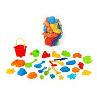 Wholesale Durable Plastic Dinosaur Beach Toy Set W / Bucket Truck 28 Pcs Easy To Carry from china suppliers