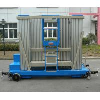 Wholesale Blue 20 M Push Around Man Lift , Aluminum Alloy Mobile Elevating Work Platform from china suppliers