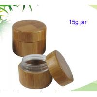 Wholesale Bamboo cream jar natural bamboo cosmetic jar 15ml from china suppliers
