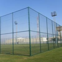 China 200*50mm PVC Coated Chain Link Mesh Fence Panels For Playground for sale