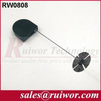 Wholesale 0.6 Mm Cable Diameter Display Security Tether With Sticky Flexible ABS Plate from china suppliers