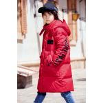 China Bilemi Long Thick Hooded Snowsuit Boy Down Coat Warm Parka Kids Winter Jacket for sale