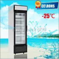 China One Door Small Glass Door Freezer -25 Degree Dynamic Cooling Eco Friendly on sale