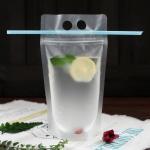 China Fruit juice liquid plastic bag transparent stand up plastic zipper bag for sale