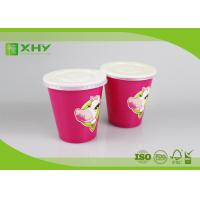 10oz Top dia 90mm Double PE Coated Disposable Paper Cup For Cold Drinks 350ml