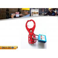 Wholesale Red Steel Economic Safety Lockout Hasp with 6 pcs Blue Padlocks from china suppliers