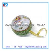 Wholesale mini ball shaped tin box for gift from china suppliers