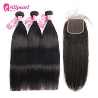 Wholesale Silky Straight Brazilian 3 Bundle Deals With Lace Closure Unprocessed 8A Hair from china suppliers