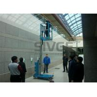 Wholesale Hydraulic Single Mast Aerial Work Platform 160kg Load 6m Height For Warehouses from china suppliers