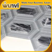 Wholesale Hexagonal Glass And Stone Mosaic Tile , Marble Mosaic Stone Tile 8mm Buidling Project from china suppliers