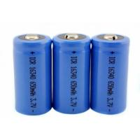 16340 650mAh 3.7V li-ion battery / cylindrical rechargeable battery for LED