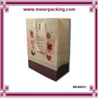 Wholesale Personalized paper gift bag/Printed kraft presentation bag for sale ME-BG021 from china suppliers