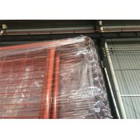 Wholesale Orange Color RAL 2009 POWDER coated Temporary Security Fencing Panels 2.1mx2.4m OD 32mm wall thick 1.40mm from china suppliers