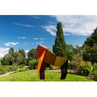 China Abstract Welded Corten Steel Garden Sculpture As Urban Landscape Ornament for sale