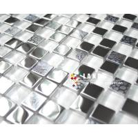 Mosaic Tile,Glass Mixed Metal Mosaic,Stainless Steel Mosaic Tiles LSMT001