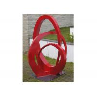 Wholesale Public Park Stainless Steel Sculpture Red Painted Abstract Metal Sculpture from china suppliers