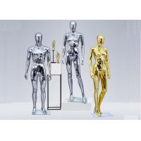 Wholesale FRP Standing Female Window Fashion Display Mannequin Chrome With Silver Or Golden Color from china suppliers