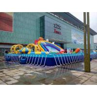China Large Frame Pool / Rainbow Slide Amazing Inflatable Water Park For Entertainment on sale