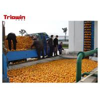 Wholesale Fresh Orange Juice Processing Equipment , Fruit Juice Making Machine With Fruit Grading from china suppliers