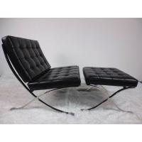 Wholesale Barcelona Leather Indoor Lounge Chair Stainless Steel Frame High Density Sponge from china suppliers