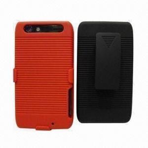China Rubberized Belt Clip Combo Mobile Phone Case, Suitable for Motorola Droid Razr xt912/xt910 on sale