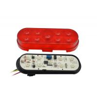 Quality 6 Inch OVAL Led Side Marker Lights Red with 4PCS Leds for sale