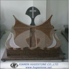 Polishing Imperial Brown Granite Tombstone, Cross Shape Granite Monuments for sale
