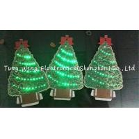Quality Christmas Tree Shaped Flashing  LED Module , Fiber Optic greeting card sound modules for sale