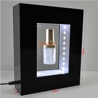 Quality Black Advertisement Display Stands , Perfume Floating Rotating Display Stand for sale