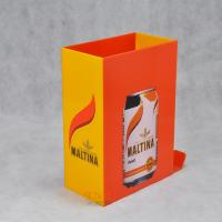 Quality Orange Acrylic Food Display Stands / Beverage Display Rack For Can Beverage for sale