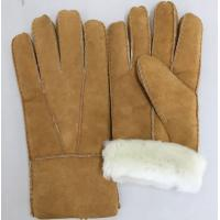 Wholesale comfortable sheepskin double face fur shearling women gloves from china suppliers