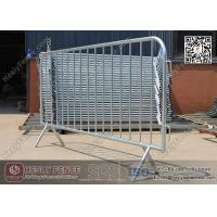 Wholesale 1.1 X 2.2m Claw Feet Crowd Barrier (China Factory)   Galvanised Steel Pedestrian Barricade from china suppliers