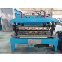 Quality 0.6mm Glazed Steel Sheet Roof Tile Forming Machine Hydraulic Decoiler 5 Tons for sale
