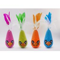 Wholesale Bird Shaped Design Wobble Cat Toy Non Toxic Material With Natural Feathers from china suppliers