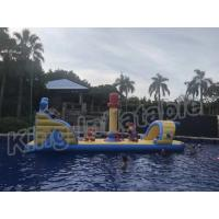 Wholesale Commercial Floating Kids Inflatable Water Parks With Slide , Customized Color from china suppliers