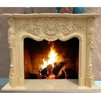 Wholesale Yellow Marble Fireplace Mantel from china suppliers