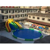 Wholesale 0.55mm PVC Tarpaulin Inflatable Water Slide Park For Kids / Inflatable Water Games from china suppliers