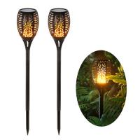 China 1w Flickering Flame Solar Lights , LED Solar Torch Light 8-10 Hours Lasting Time on sale