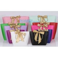 Wholesale Luxury Kraft Paper flower bag paper with handle, flower carrier bag,PaperGiftBagsCarrierParty Paper Gift Shopping Bag from china suppliers