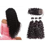 Wholesale No Tangling Brazilian Hair Weave Bundles With Closure Can Be Dyed And Premed from china suppliers