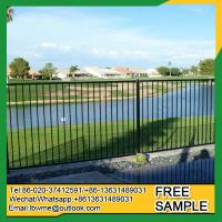 China Sarasota steel fence for sale AnnArbor palisade fence factory on sale