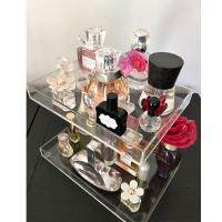 Wholesale 3 Tier Acrylic Display Stand /  Square Acrylic Makeup Display Stand Perfume Trays Transparent from china suppliers